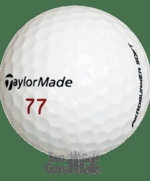 TaylorMade AeroBurner Soft used golf balls image