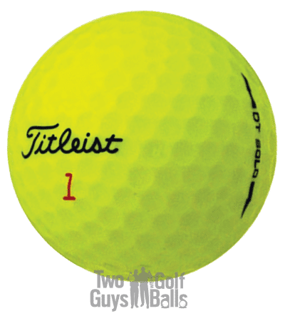 Titleist DT Solo image of used golf balls yellow