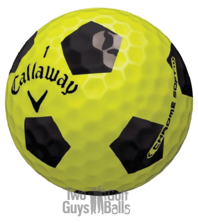 Image of Callaway Chrome Soft Truvis Yellow and Black UsedGolfBalls