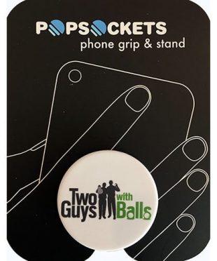 Two Guys Pop Socket White