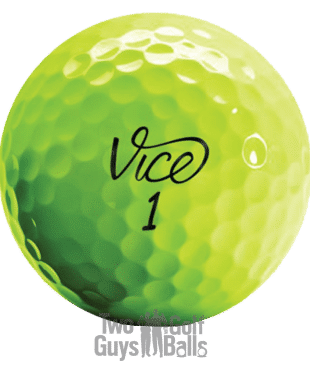 Vice lime green used golf balls