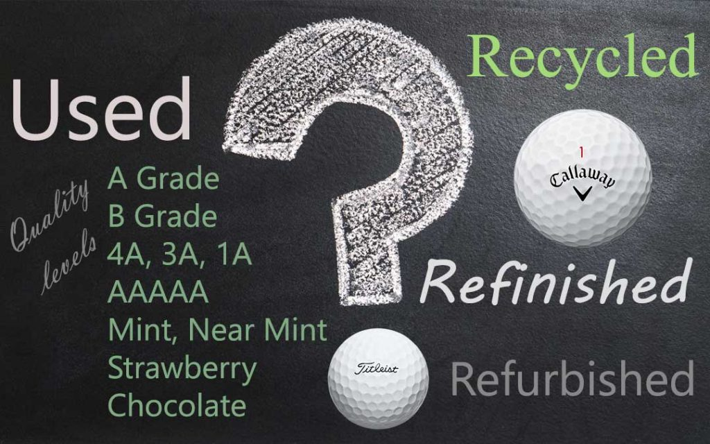 Used vs Recycled vs Refinished Golf Balls