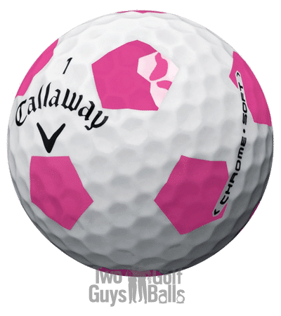 image of callaway chrome soft truvis pink used golf balls