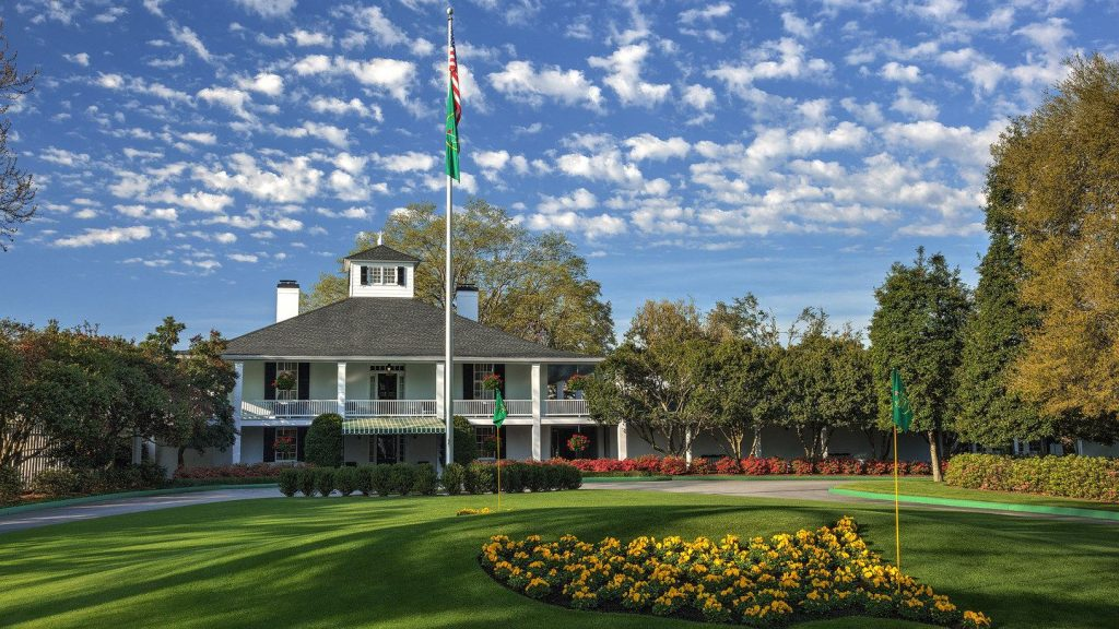 Image of Augusta National Clubhouse where the Masters Champtionship is held