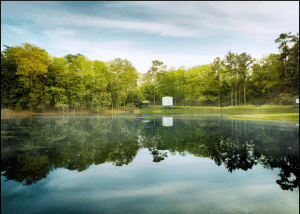 Image of Ike's Pond at Augusta National home of the Masters
