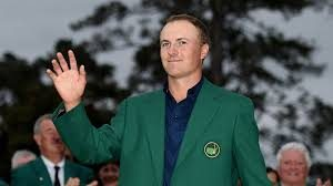 Jodan Spieth wearing the Green Jacket at the Masters