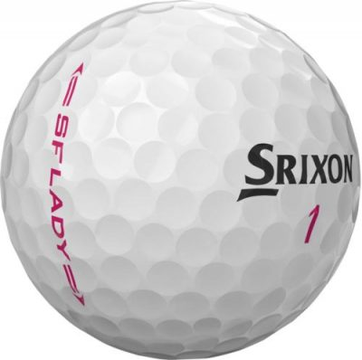 Image of Srixon Ladies Used Golf Ball with a pink SF lady on the side