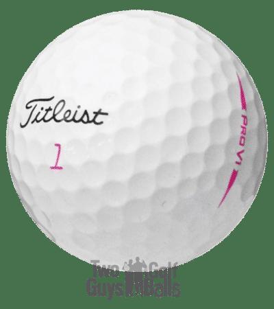 Titleist Pro V1 Pink Used Golf Balls image