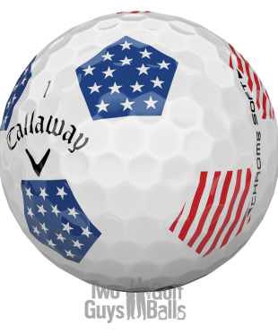 callaway stars and stripes used golf ball truvis